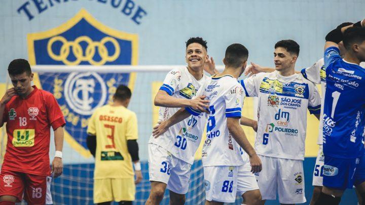 São José Futsal goleia Osasco Audax em casa e segue na liderança do Paulista Sub-20